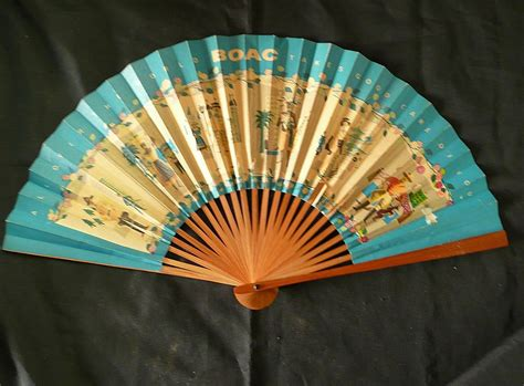 large decorative paper fans boac advertising paper fan from molotov on ruby