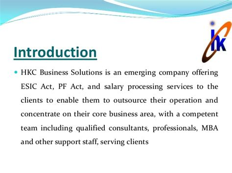 International Business Introduction Letter esic epf consultants in delhi