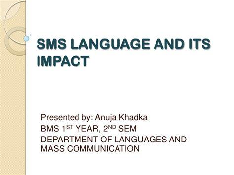 language ms sms language and its impact