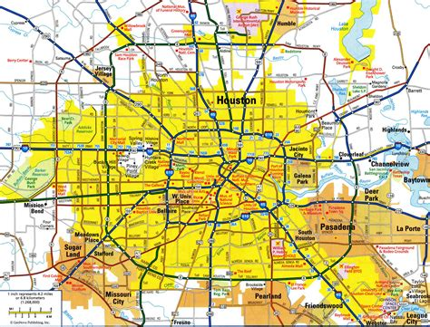 houston map city map of houston indiana map