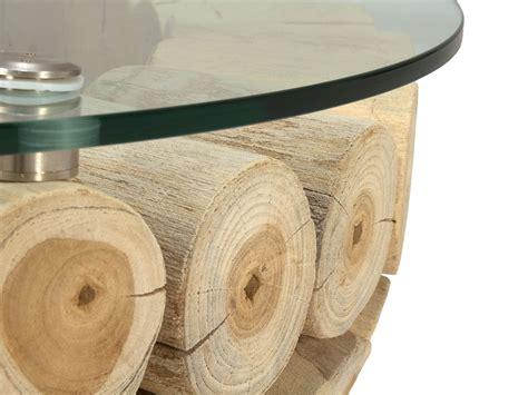 table basse ronde verre et bois table basse en bois flotte ronde ezooq