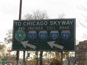 Chicago Skyway Map by Old Chicago Skyway Amp Indiana Toll Road Directional Sign