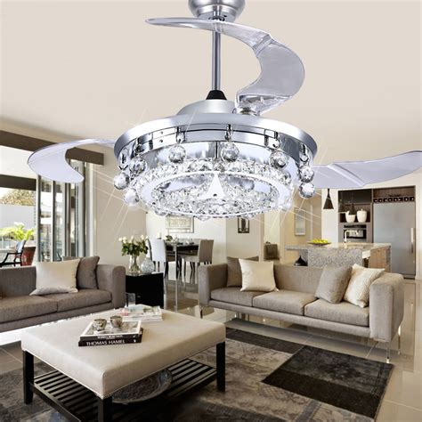 Led Crystal Ceiling L Dining Room Sitting Room Fan Dining Room Ceiling Fans With Lights