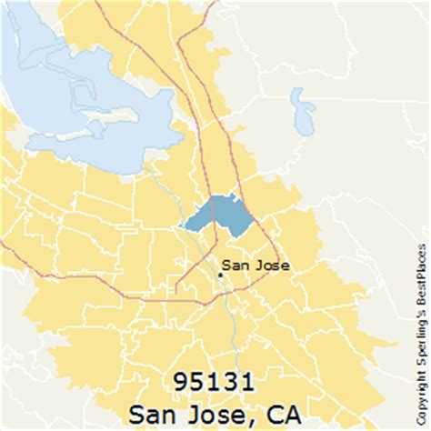 san jose map of zip codes best places to live in san jose zip 95131 california