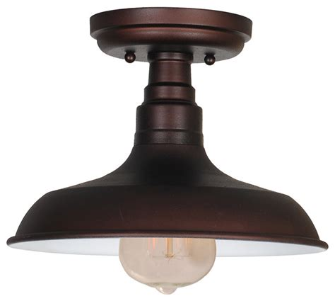 kimball 1 light semi flush ceiling mount bronze