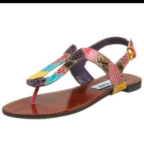 multi colored flat sandals 78 steve madden shoes steven madden sanfrann multi