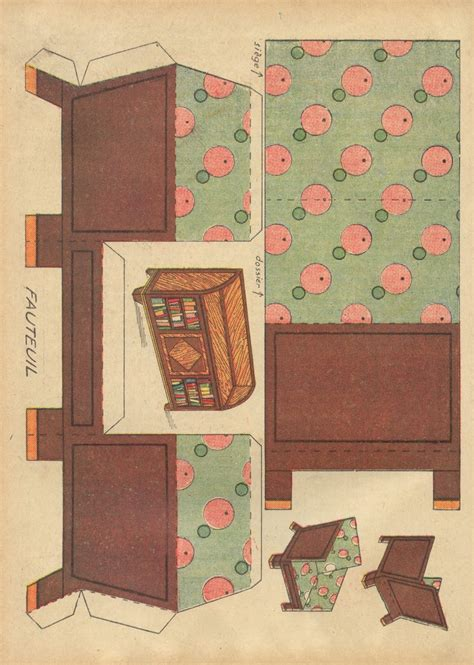 Furniture Papercraft - 17 best images about deco dollhouse on