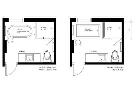plans bathroom designed