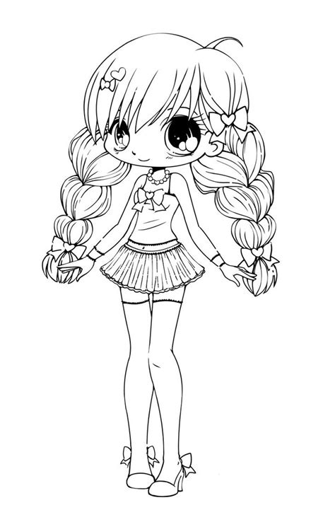 kawaii anime coloring pages free printable chibi coloring pages for kids