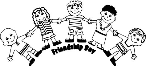 friendship coloring pages friendship day five friends coloring page wecoloringpage