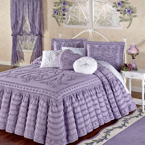 chenille comforter intrigue chenille ruffled flounce oversized bedspread bedding