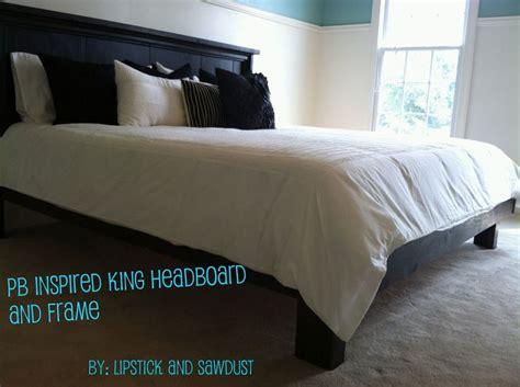 diy king bed frame headboard images  pinterest