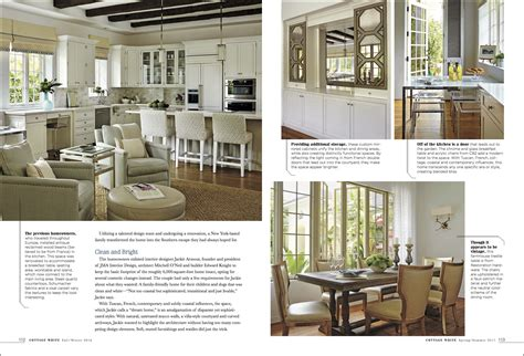 Cottage White Magazine Design Article Brantley Photography Cottage Design Magazine