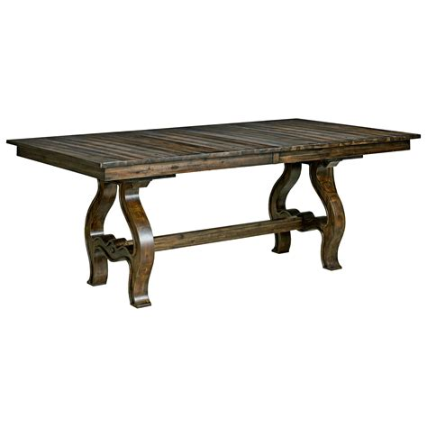 trestle table with leaves vintage trestle table with two table extension leaves by