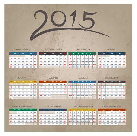 Calendã De 2015 Plantillas Para Calendarios 2015 Vectorizados Central