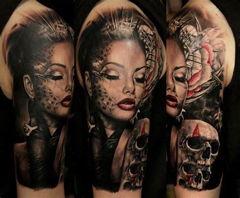girl skull tattoo skull www galleryhip the hippest pics