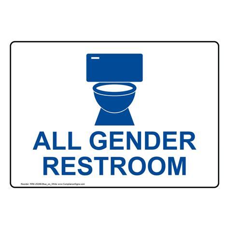 all gender bathroom sign gender neutral bathroom signs all gender restroom sign