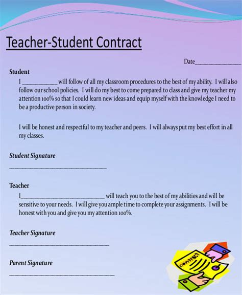 5 teacher contract sles templates pdf doc