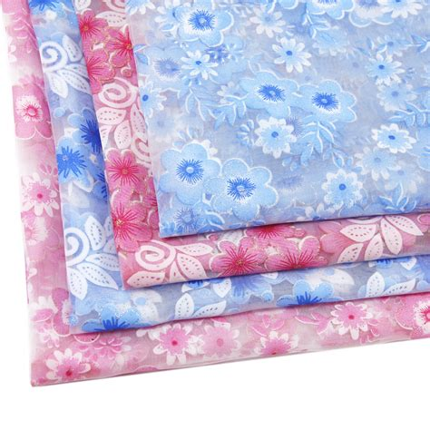 patterned gauze fabric 50 130cm flower patchwork printed gauze fabric for tissue