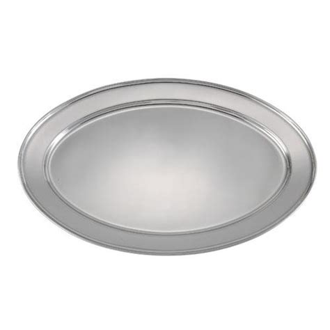restaurant dining room leftover stainless steel serving winco opl 22 21 3 4 in x 14 1 2 in oval stainless