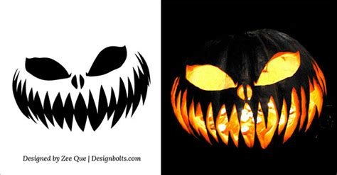 scary pumpkin faces templates 10 free scary pumpkin carving patterns