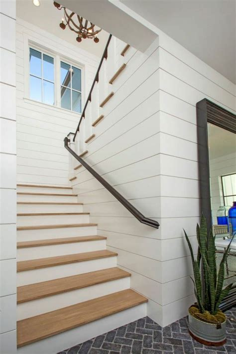 shiplap on stairs 249 best images about shiplap walls on pinterest planked