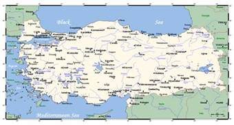 map of with towns maps of turkey detailed map of turkey in