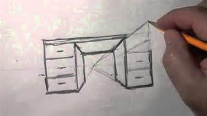 how to draw a desk 1 pt perspective desk a basic how to draw lesson