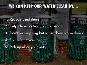 how to keep our water clean by lang sbelly