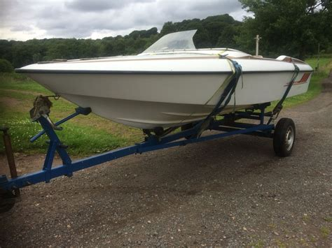 speed boat for sale uk classic 17 fletcher speed boat project and trailer