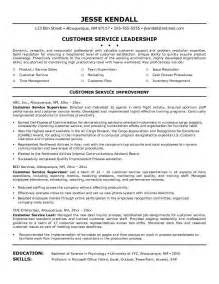 Resume Templates Customer Service by Customer Service Resume Resume Cv