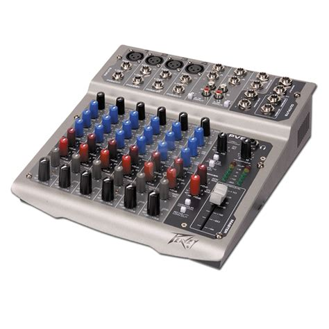 Mixing Console Mixer Peavey Pv8 8channel Limited peavey pv8 compact 6 channel dj mixer 48v phantom power ebay