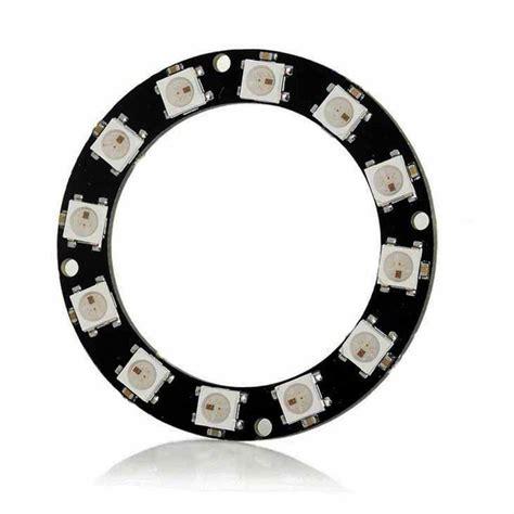 Diskon Pcb Ring 12 Led 5 Cm ldtr y00012 ws2812b 5050 led smart rgb ring 50mm 12 bit for arduino black alex nld