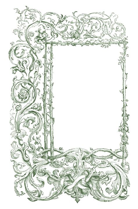 Frame Vintage 1 vintage clip faux bois frames with scrolls the