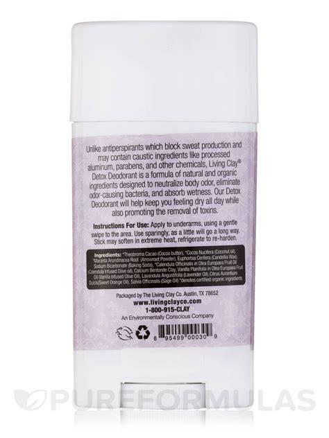 Living Deodorant Detox by Detox Deodorant Lavender 4 Oz