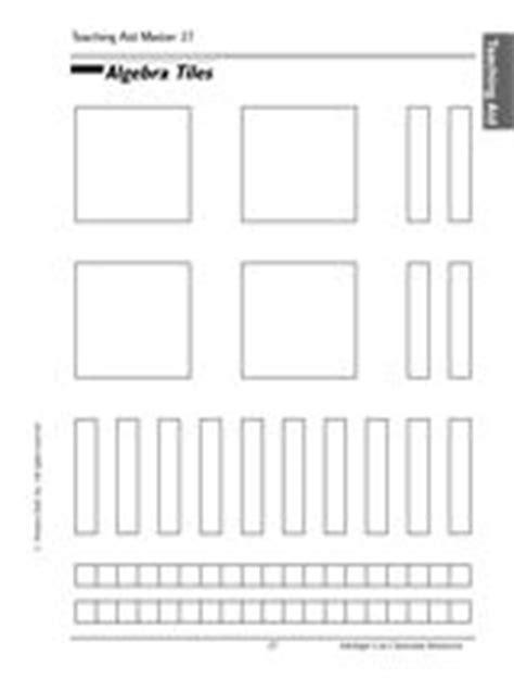 algebra tiles template algebra tile and templates on