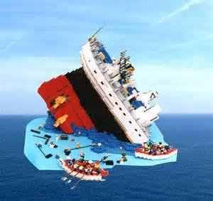 Lego Titanic Sinking sinking titanic a lego 174 creation by b k mocpages