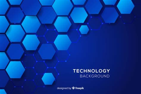 technological honeycomb blue background vector