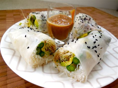 Things To Make With Rice Paper - summer rice paper rolls with peanut sauce everythings