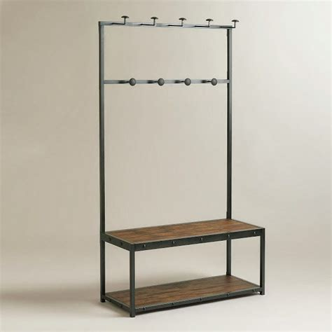 hall storage bench and coat rack best 20 industrial hall trees ideas on pinterest