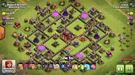 layout editor war base replays on best th9 5 war hybrid base layout youtube