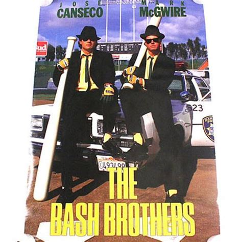 vintage jose canseco mcgwire the bash brothers costacos poster 1988 baseball for all to envy