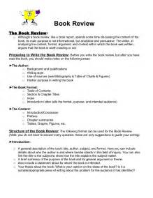 Exle Book Review Essay by Book Review Format 1