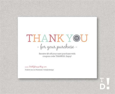 free after purchase card template 1000 images about business thank you cards on