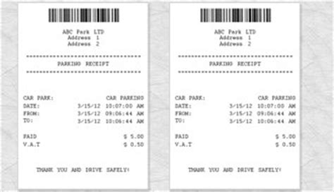 28 parking receipt template pin parking receipt