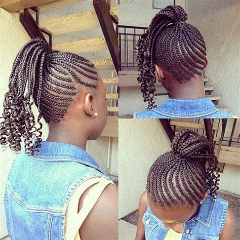african american braid up into a ponytail black girls hairstyles and haircuts 40 cool ideas for