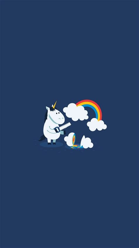 wallpaper for iphone 6 rainbow unicorn saw clouds rainbow funny iphone 6 wallpaper