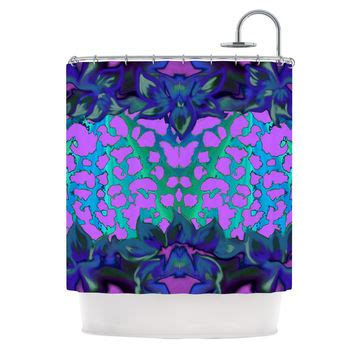 purple and teal shower curtain shop purple and teal shower curtains on wanelo