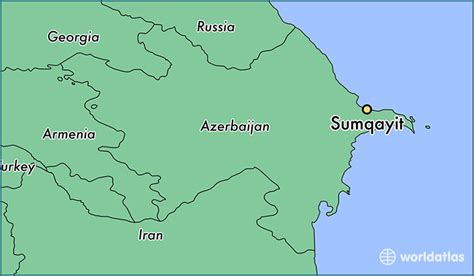 baku on world map where is sumqayit azerbaijan where is sumqayit