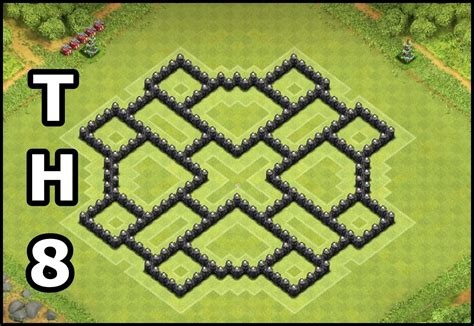 coc layout th8 new clash of clans lvl 7 town hall base design 2015 clash of